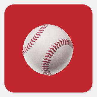 Béisbol - béisboles de la plantilla de los pegatina cuadrada