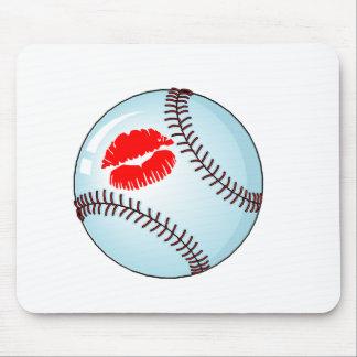 Béisbol (beso) alfombrilla de ratones