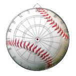 Béisbol blanco con la costura roja
