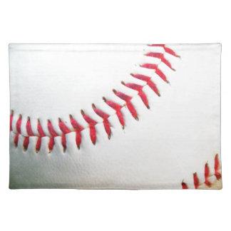 Béisbol blanco con la costura roja manteles