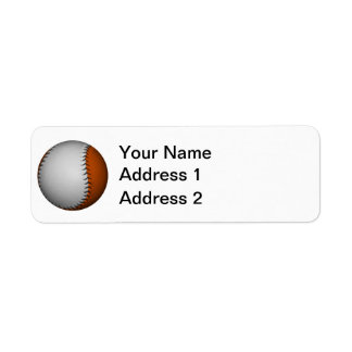 Béisbol blanco y anaranjado etiquetas de remite