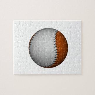 Béisbol blanco y anaranjado puzzle