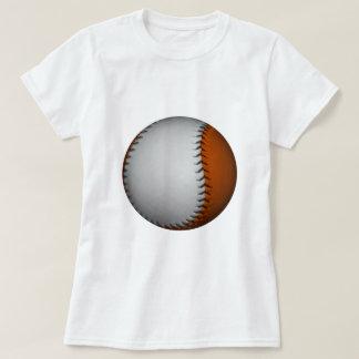Béisbol blanco y anaranjado remeras