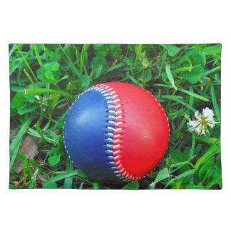 Béisbol blanco y azul rojo manteles