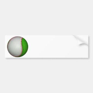 Béisbol blanco y verde pegatina para auto