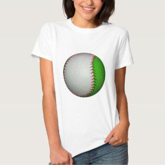 Béisbol blanco y verde remeras