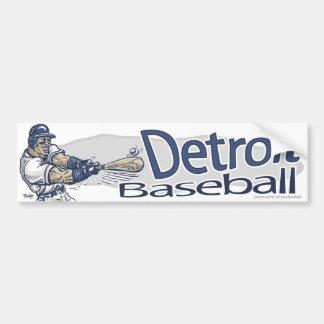 Béisbol Bumpersticker de Detroit Etiqueta De Parachoque
