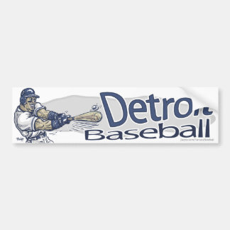 Béisbol Bumpersticker de Detroit Pegatina Para Auto