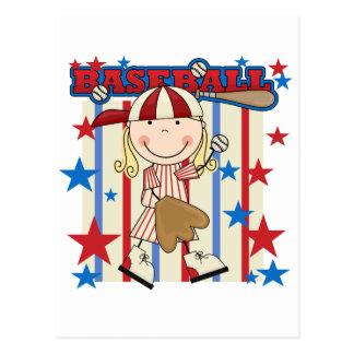 BÉISBOL - camisetas y regalos rubios del chica Postal
