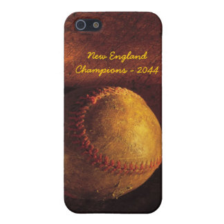 Béisbol - caso adaptable de la célula del softball iPhone 5 carcasas