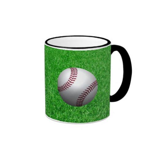 Béisbol - césped - efecto 3D Taza De Café
