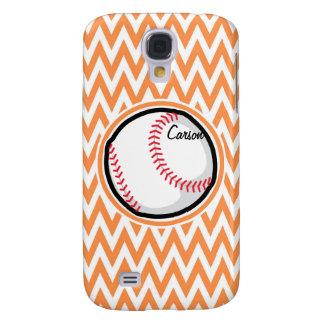 Béisbol Chevron anaranjado y blanco