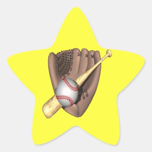 Béisbol Colcomanias Forma De Estrellaes