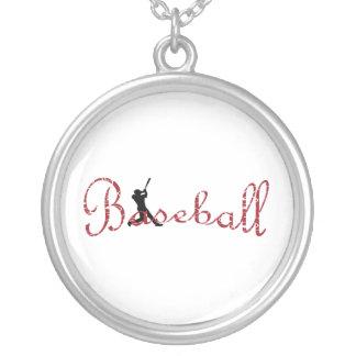 béisbol collar plateado