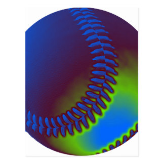 Béisbol coloreado postal