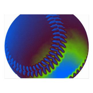 Béisbol coloreado postales