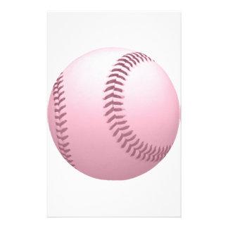 Béisbol coloreado rosáceo color de rosa papelería de diseño