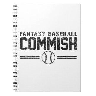 Béisbol Commish de la fantasía Cuaderno