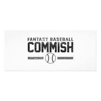Béisbol Commish de la fantasía Diseño De Tarjeta Publicitaria