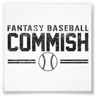 Béisbol Commish de la fantasía Fotografia