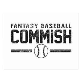 Béisbol Commish de la fantasía Postal