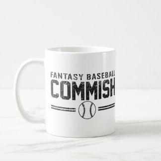 Béisbol Commish de la fantasía Taza De Café