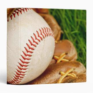 """Béisbol con el mitón 1,5"""" álbum de foto carpeta 1 1/2"""""""