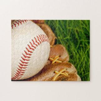 Béisbol con el mitón rompecabezas