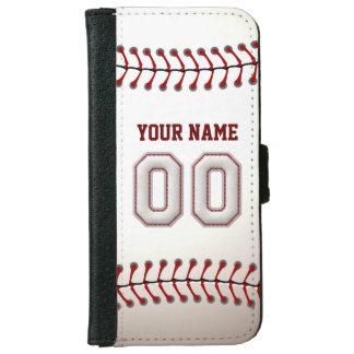 Béisbol con el número conocido adaptable 00 carcasa de iPhone 6