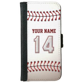 Béisbol con el número conocido adaptable 14 carcasa de iPhone 6