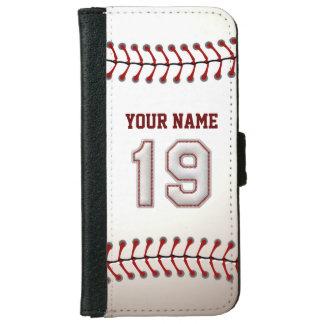 Béisbol con el número conocido adaptable 19 carcasa de iPhone 6