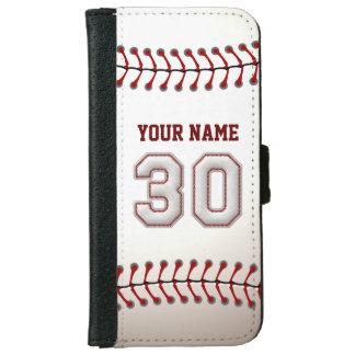 Béisbol con el número conocido adaptable 30 carcasa de iPhone 6
