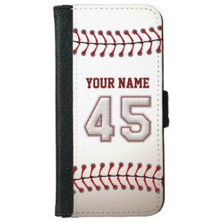 Béisbol con el número conocido adaptable 45 carcasa de iPhone 6