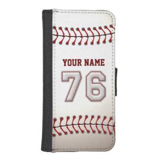 Béisbol con el número conocido adaptable 76 fundas tipo billetera para iPhone 5