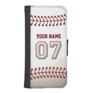 Béisbol con el número conocido adaptable 7 billeteras para teléfono