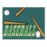 Béisbol con la bola del palo n postal