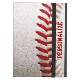Béisbol con la costura del rojo y el nombre person