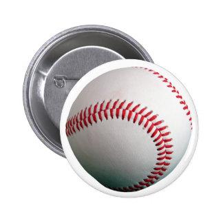 Béisbol con la costura roja pins
