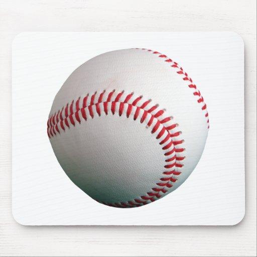 Béisbol con la costura roja tapete de ratón
