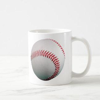 Béisbol con la costura roja taza de café