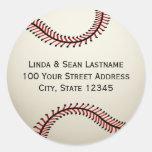 Béisbol con la dirección etiquetas