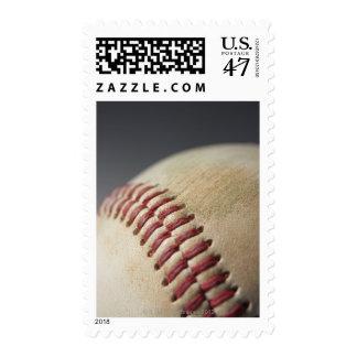 Béisbol con la marca del impacto estampillas