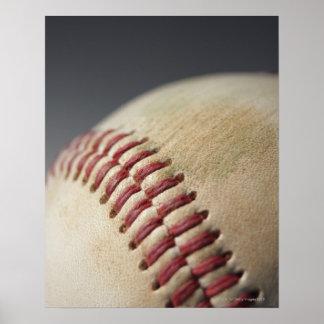 Béisbol con la marca del impacto impresiones