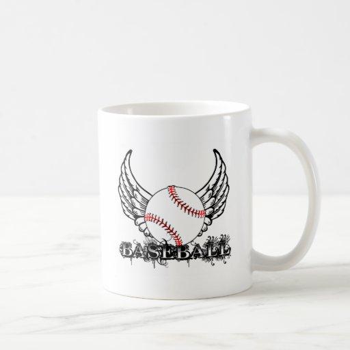 Béisbol con las alas taza
