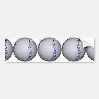 Béisbol con las puntadas azules pegatina de parachoque