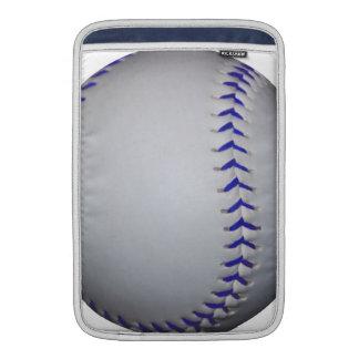 Béisbol con las puntadas azules funda  MacBook
