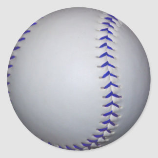 Béisbol con las puntadas azules pegatinas redondas