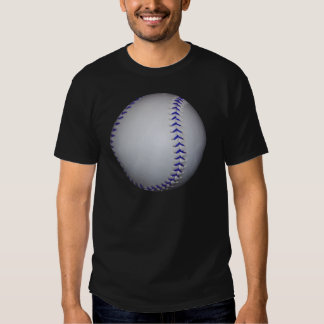 Béisbol con las puntadas azules playeras