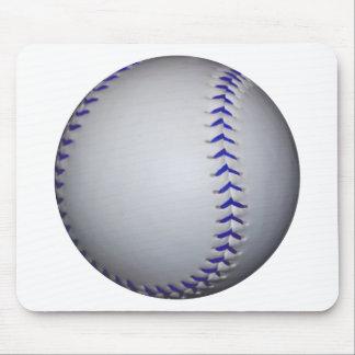 Béisbol con las puntadas azules mousepad
