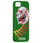 ¡Béisbol con los dientes - personalizable! iPhone 5 Protectores